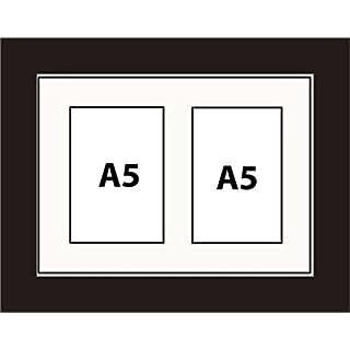 Kwik Picture Framing Bilderrahmen Multi Aperture Foto Rahmen passend für 2A5Fotos 10.0Bilderrahmen weiß Halterung Aufhängen Hochformat oder Querformat schwarz Rahmen  good quality  Made in UK