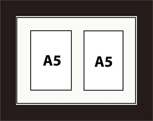 Kwik Picture Framing Bilderrahmen Multi Aperture Foto Rahmen passend für 2A5Fotos 10.0Bilderrahmen weiß Halterung Aufhängen Hochformat oder Querformat schwarz Rahmen |good quality| Made in UK - Horizontale Mehrfach-bilderrahmen