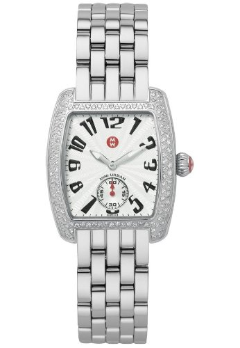 Michele Women's Steel Bracelet & Case S. Sapphire Swiss Quartz Silver-Tone Dial Analog Watch MWW02A000124