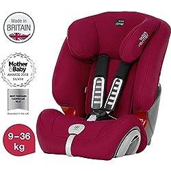 Britax Römer Kindersitz, 9 - 36 kg, EVOLVA 123 PLUS Autositz Gruppe 1/2/3, flame red