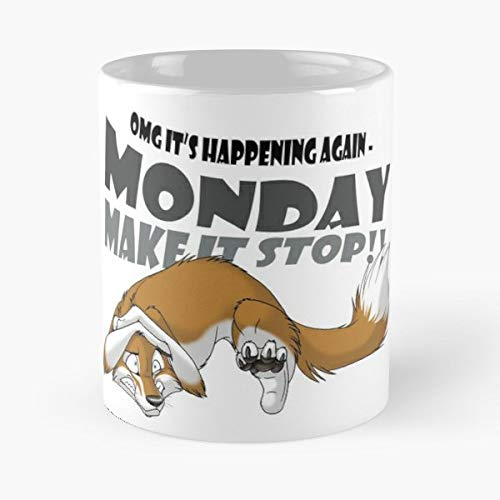 Monday Fox Fuchs Fo Best Gift Ceramic Coffee Mugs
