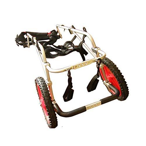Hunderollstuhl für Hinterbeine Haustier-Rollstuhl, großer Hunde-Roller für das Hinterbein-Reparatur-Rehabilitations-Trainings-Feld, passend für Gewicht 22-45kg, Höhe 50cm oder mehr Haustier-Tragen Hun -