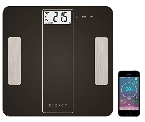 EXZACT-Smart-Escala-Analizadora-Inteligente-Analizador-Corporal-Bscula-Personal-Electronica-Bscula-de-Bao-Digital-Bluetooth-40-Para-Smartphones-iPhone-iOS-Grasa-Corporal-Hidratacin-Msculos-Corporal-Hu