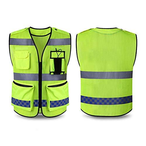 Quiet.T Arbeitsweste Reflektierend,Reflektorweste Leicht Und Atmungsaktiv Sicherheitsweste Running Warnweste Fahrrad Unfall-Weste Für Baustellenarbeiter, LKW-Fahrer, Biker (2 Stück)