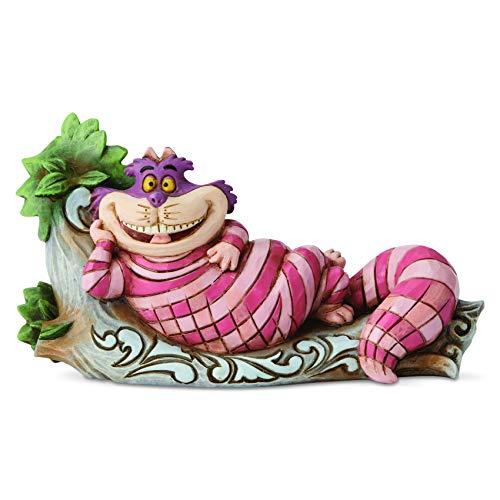 Enesco Disney Traditions by Jim Shore Alice in Wonderland Cheshire Cat on Tree Figur, Bunt, 2.72 Inch