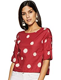 Amazon Brand - Myx Women's Polka dot Loose fit Top
