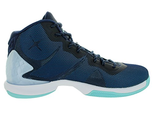 Nike Jordan Super.Fly 4, Chaussures de Basketball Homme Multicolore - Azul /Blanco (Mid Navy/Cp-White-Infrrd 23)