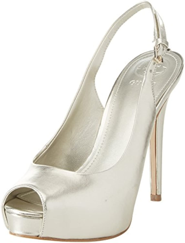 Guess Damen Footwear Dress Sling Back Plateaupumps Platino
