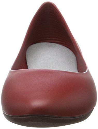 walk&rest Damen Ballerina Geschlossene Ballerinas Rot (Rot)