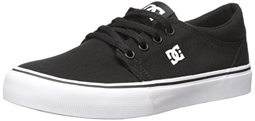 Dc-jungen Skate Schuhe (DC Shoes Jungen Trase Tx - Low-top Shoes for Boys Skateboardschuhe, Black/White, 36 EU)
