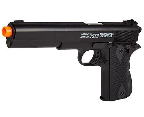 HFC HA123 Airsoft Federdruck Pistole in Schwarz, Nachbildung des 1911 Stil, unter 0.5 Joules, Hop up, GRATIS 2000 BULLDOG BBS 0.20G