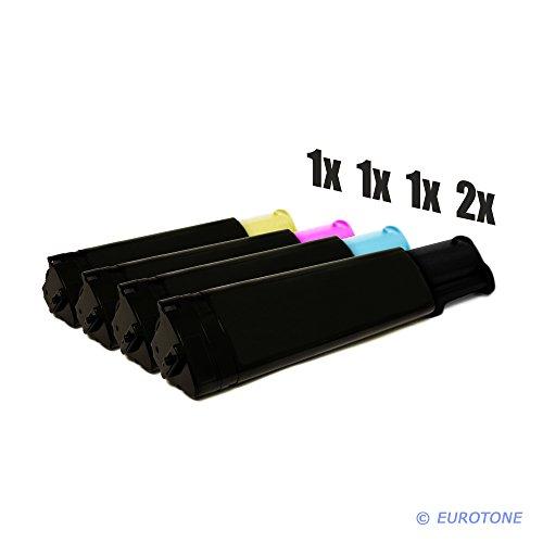 1100 Cyan Toner-kassette (Eurotone Toner Kartuschen für Epson Aculaser C1100 / C11X N NF NFC ersetzten 2X Black, 1x Cyan, 1x Yellow, 1x Magenta Patronen im 5er Spar Set - kompatible Premium Kit Alternative - Non OEM)