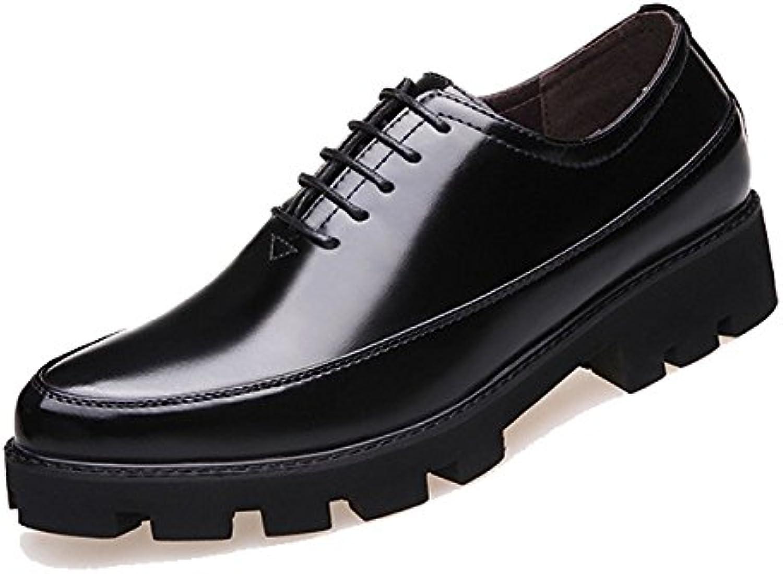 XYNXKZ Hombres Casual Retro Empresa/Negocio Cordones Cómodo Elegante Al Aire Libre Zapatos De Cuero  -