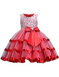 844f0a252fa Happy Cherry - Filles Robe de Soirée Princesse pour Cérémonie Fête Baptême  Banquet Demoiselle Jupe Longues