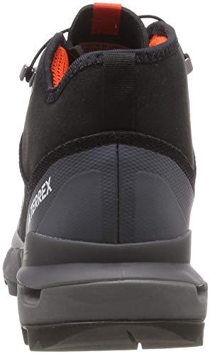 adidas Herren Terrex Fast Mid Gtx-Surround Wanderstiefel, Schwarz (Nero Negbas/Negbas/Grivis), 44 2/3 - 2