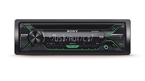 Sony CDXG1202U.EUR Autoradio, CD-Player, USB/AUX-Eingang, 4x 55 Watt, Extra Bass grün/schwarz