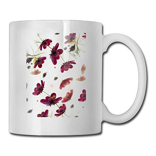 Floating Flowers Cup Coffee Mug 11oz Tea 35AL4qRj