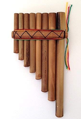 HAND MADE SOUTH AMERICAN BAMBOO PAN PIPES PERUVIAN MOUTH WOODEN FLUTES BAMBOO
