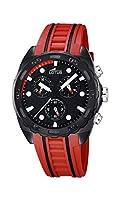 Lotus 18159/5 - Reloj de pulsera hombre, Caucho, color Rojo de Lotus