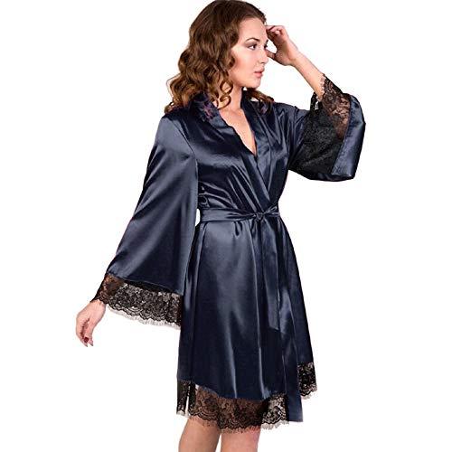 Nachthemd Satin Sexy Dessous Babydoll Kurz Ouvert Nachtwäsche Damen Nachtkleid öffnen Seite Mit Spitze Negligee Träger