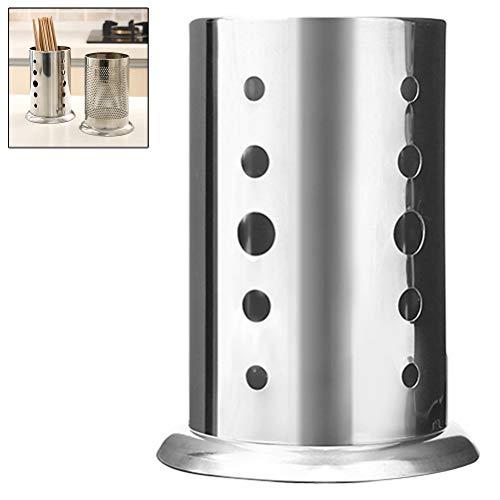 Ysoom Küchenutensilienhalter Edelstahl - perfekt als Besteckhalter, Küchenkorb oder Küchenzubehör-Ständer - Kochutensilien Halter