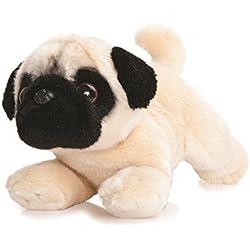Luv to Cuddle Peluche perro carlino Peluche Tumbado perro de peluche aprox. 28cm, en Juego con 7ml Body Mantequilla