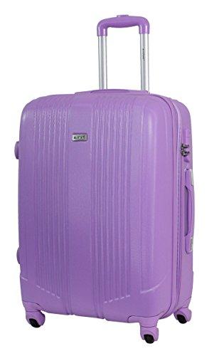 Valise Taille Moyenne 65cm - ALISTAIR Airo - ABS ultra légère et résistante - 4 roues - Marque française - 8 couleurs disponibles - Pink New