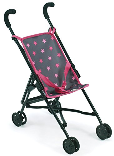 Bayer Chic 2000 601 82 Mini Roma, Puppen-Buggy, Sternchen grau