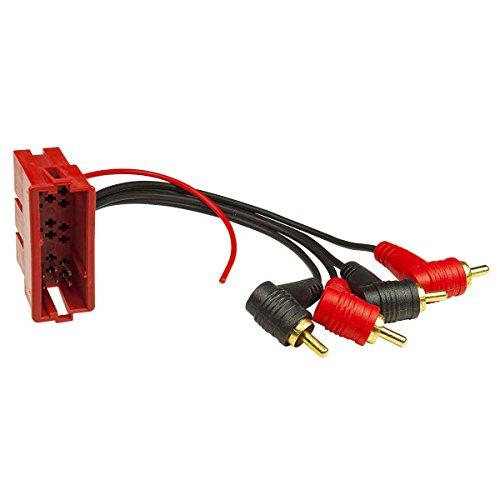 tomzz Audio 7003-006 Aktivsystemadapter für Audi Mini-ISO Stecker 20-polig auf Cinch 4-Kanal mit Remote, verg. Cinch-Stecker