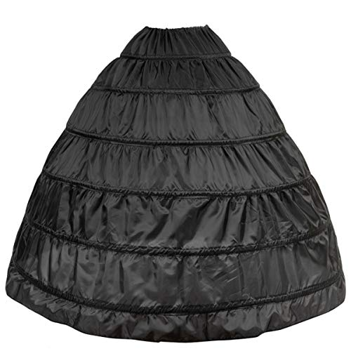 6 Ring Reifrock Unterrock Petticoat Damen Hochzeitskleider Underskirt Krinoline Brautkleider mit Schichten Tüll für Hochzeit Party Barock Kleid Slip Rock verstellbar Unterröcke
