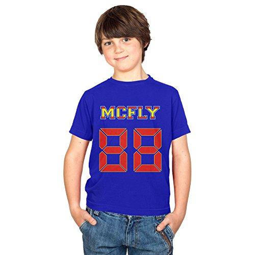 TEXLAB - McFly 88 - Kinder T-Shirt, Größe XS, (Tannen Kostüme Biff)