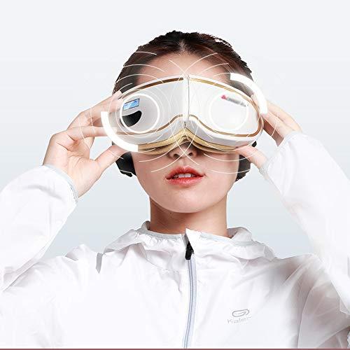 Elektro-AugeMassager, Wireless Faltbare nachladbare Augentherapie-Maske mit Wärme Kompression, Luftdruck, Bluetooth Musik 5 Modi für Eye Bag Dark Circles Auge Relax