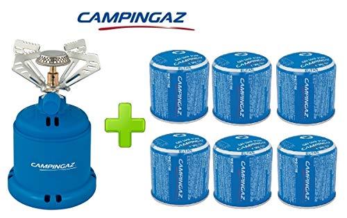 ALTIGASI Réchaud à gaz Camping 206 S Stove Camping Puissance 1,230 W - Poids 280 grammes + 6 pièces Cartouche C206 GLS de 190 grammes