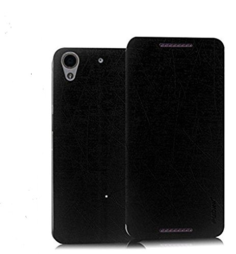 Original Pudini® Yusi Rain Series Flip Case For HTC Desire 626G Plus 626 626S Greyish Black - Free Screen Guard