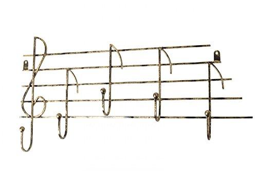 Garderobe-Wandgarderobe-Hakenleiste-Noten-Musik-Garderobenleiste-wardrobe-music