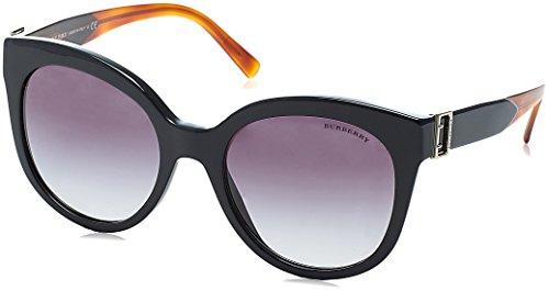 Burberry 0be4243 36378g 55, occhiali da sole donna, nero (black/gradient)