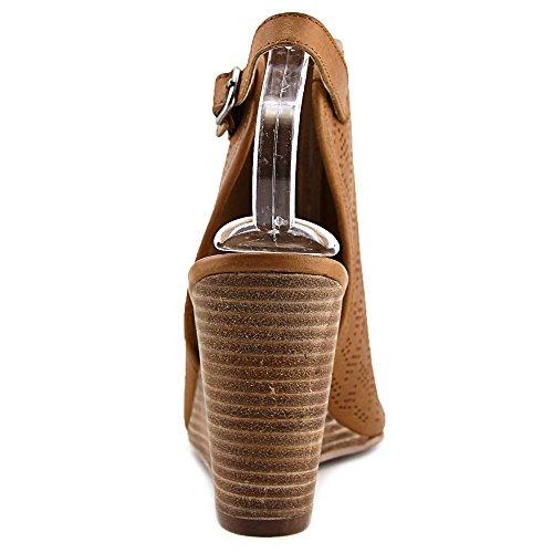 Lucky Brand Risza 2 Leder Keilabsätze Sandale Cashew