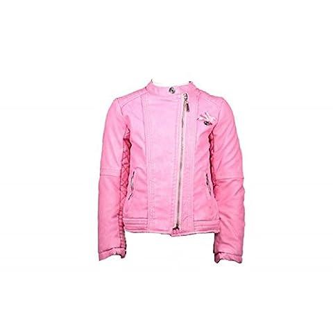 LE CHIC Mädchen Kunst Lederjacke Biker Jacke pink 128 140 152 UVP 89,90 (152)