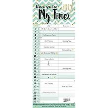 My Timer - Glamour your Time 2019: TypoArt Familienplaner mit 2 breiten Spalten. Edler Familienkalender mit Ferienterminen und Vorschau bis März 2020.