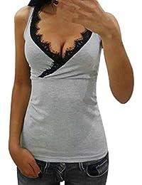 Amazon.fr   Argenté - Débardeurs   T-shirts dee76e6d098