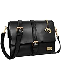 I Define You Latest Modern Art Black Color Party Wear Sling Bag For Girls And Women's