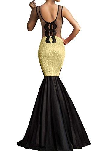 Dissa® SY60633 femme sexy Robe de soirée Or