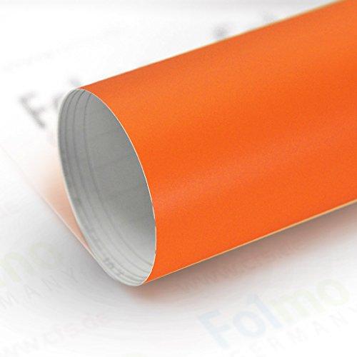 33,04€/m² Auto Folie Streifen Glanz, Matt, Carbonfolie mit Luftkanal (Matt Orange 50x121cm) -