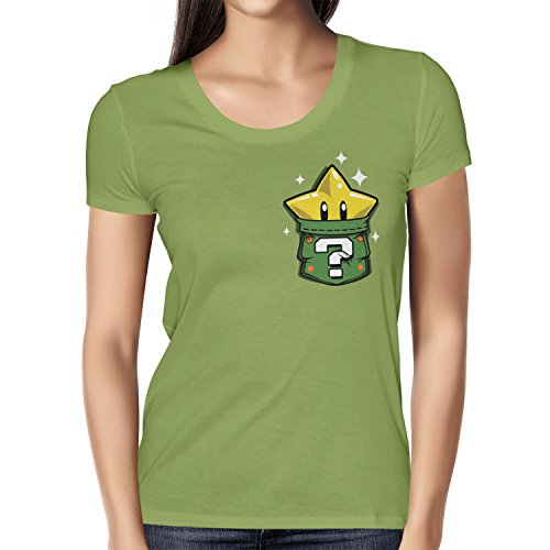TEXLAB - Star in a Pocket - Damen T-Shirt, Größe M, kiwi