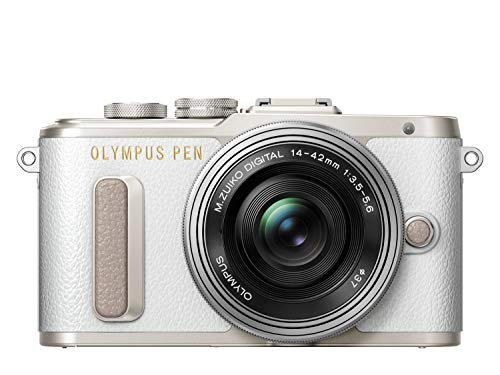 "Olympus PEN E-PL8 Kompakte Systemkamera (16 MP, elektr. Zoom, Full HD, 3"" Display, Wifi) + 14-42mm Pancake weiß/silber"