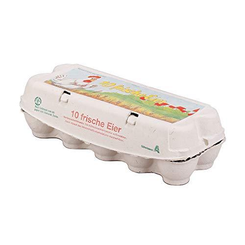 188x Eierverpackung, Eierkarton, Holzschliff, Cappuccino oder Rapsgrün, 10 Eier