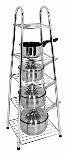 buckingham-90-cm-height-premium-chrome-plated-5-tier-pots-and-pan-stand-silver