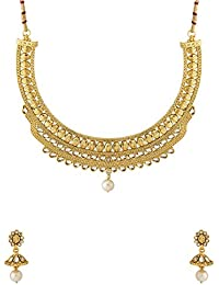 Valentine Gifts: Voylla Traditional Alloy With Gold Plating Plated Pearl Beads Necklace Sets For Women, Girlfriend...