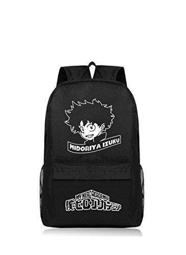 Academia Rucksack Cosplay Kostüm Prop Izuku Oxford Tuch Schule Schulter Daypack Tasche Wandern Tasche für Erwachsene & Jugendliche