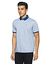 blackberrys Mens Printed Slim Fit T-Shirt (ETCC0480B3MS18FL42_Cobalt Blue)